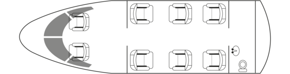 CITATION CJ2+: Standard floor plan configuration