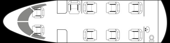 Citation CJ4: Standard floor plan configuration
