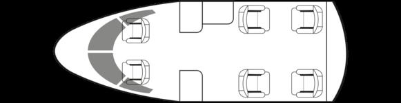 CITATION MUSTANG: Standard floor plan configuration