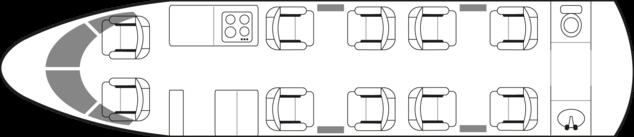 PC-24: Standard floor plan configuration