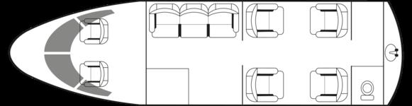 Nextant400XTi: Standard floor plan configuration